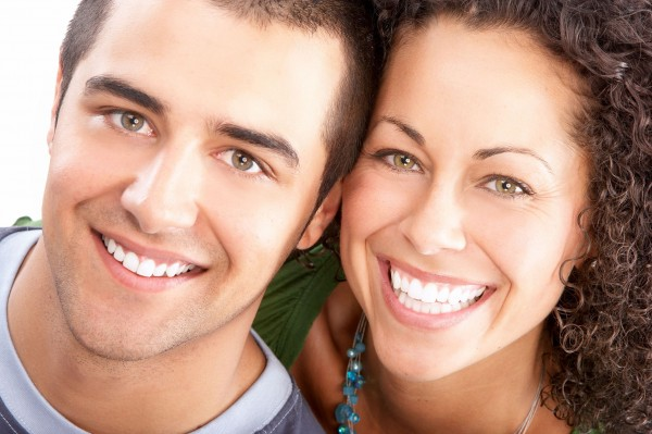 Teeth Whitening - Couple Smiling