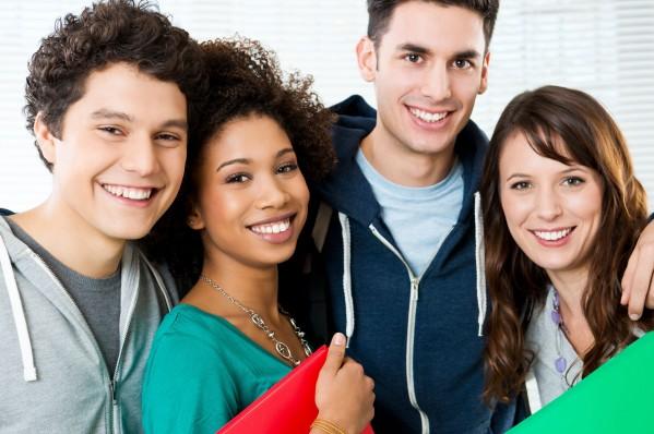 Wisdom Teeth - Group of Teens smiling
