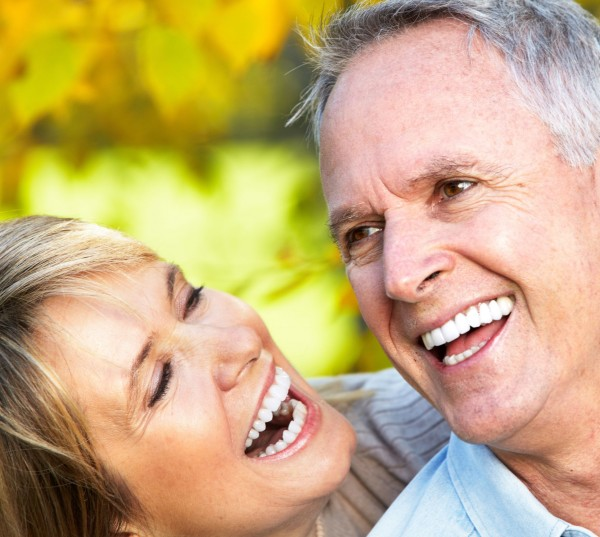 Mature Couple Smiling in a park